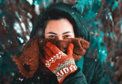 На морозе