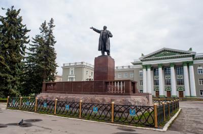 Ступино, проспект Победы, памятник Ленину, Дворец культуры