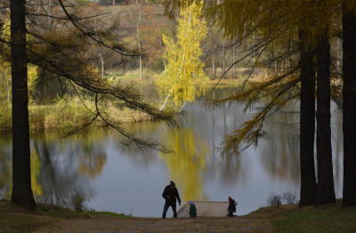 Нижний барский пруд на территории музея-усадьбы «Середниково»