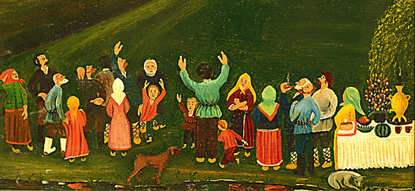 """Сакиян Ваагн. Пасха. Работа, представленная на выставке  """"Художники, наивно увидевшие окружающую их жизнь"""""""