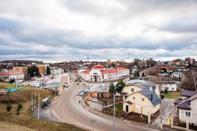 Вид на Волоколамский Кремль, Волоколамск