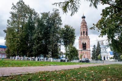 Бронницкая колокольня в храмовом комплексе в Бронницах