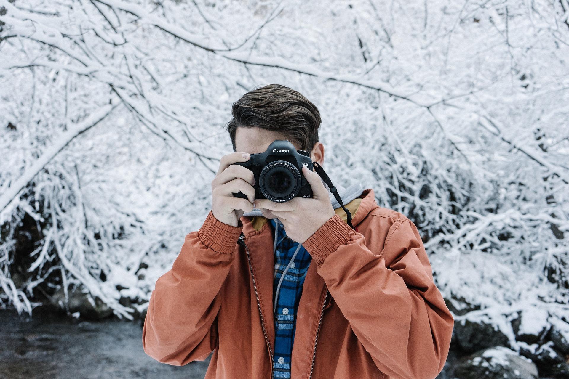 Фотограф зимой