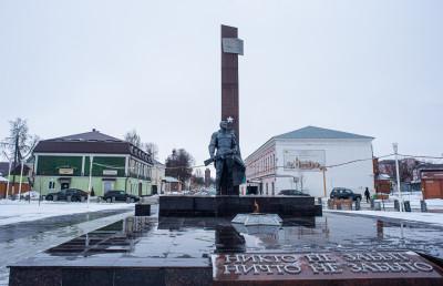 Зарайск, площадь Революции, мемориал ВОВ