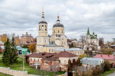 Серпухов. Улица Красная гора, Смотровая площадка. Церковь Ильи Пророка