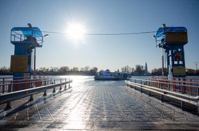 Дединово, паромная переправа, река Ока