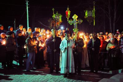 Пасхальное богослужение в Троицке