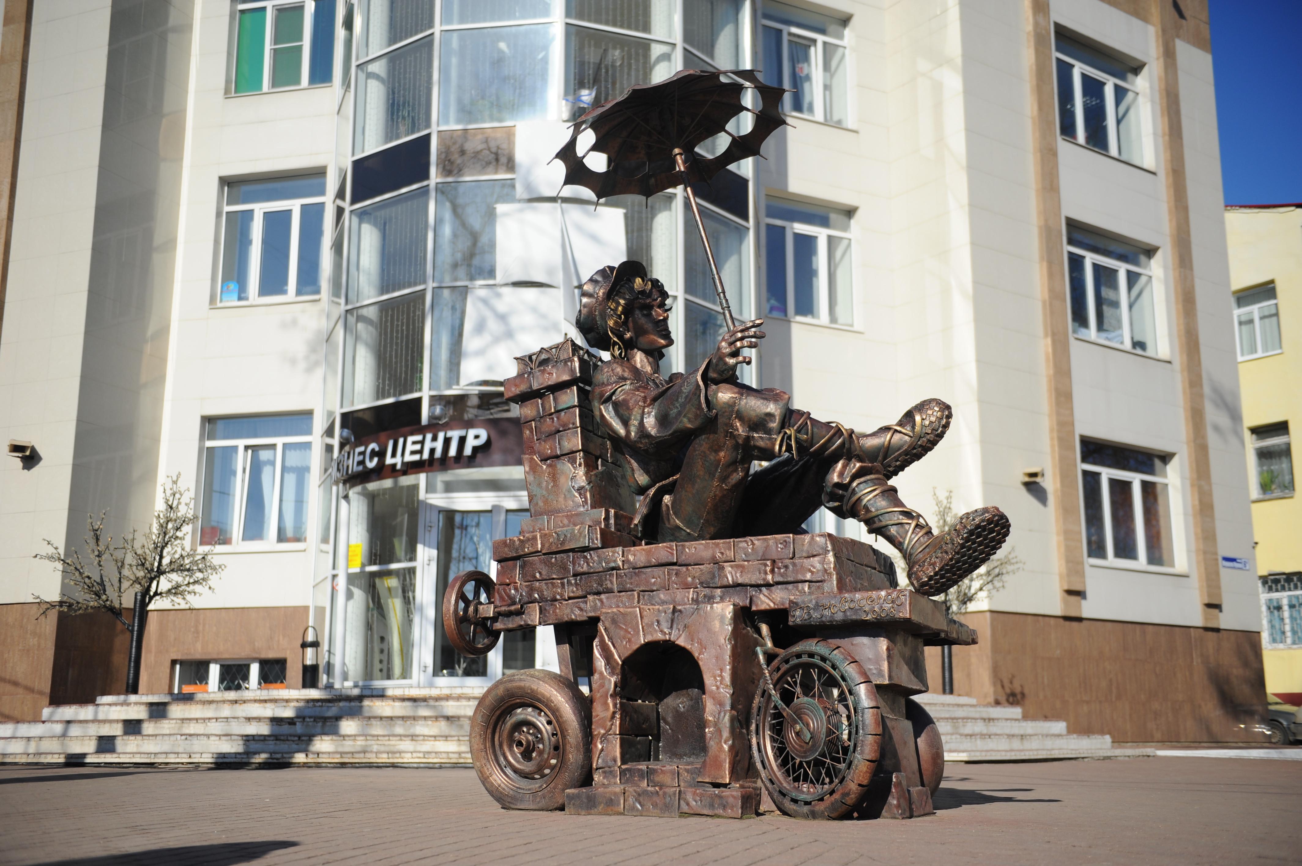 Скульптура «Емеля на печи» в Наро-Фоминске