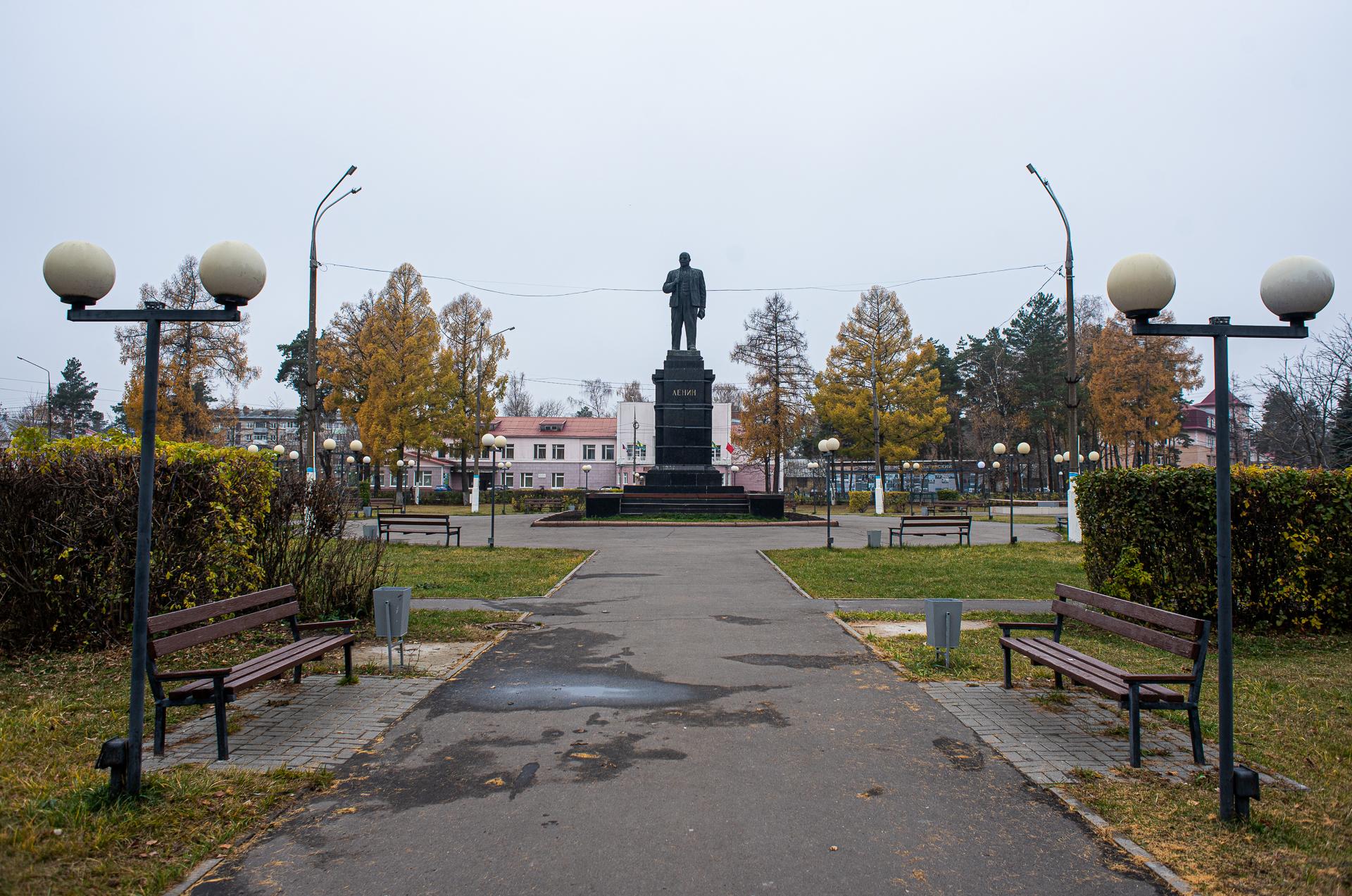 Шатура, площадь Ленина, памятник Ленину