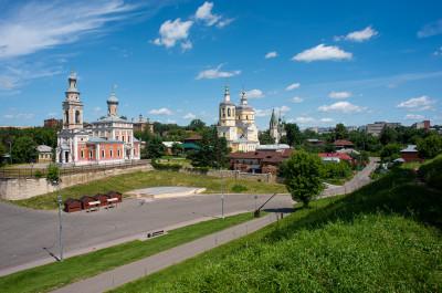 Серпухов, Соборная Гора, вид со смотровой площадки