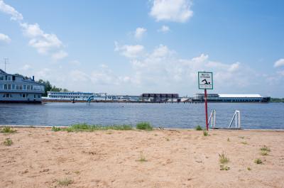 Клязьминское водохранилище, Пляж