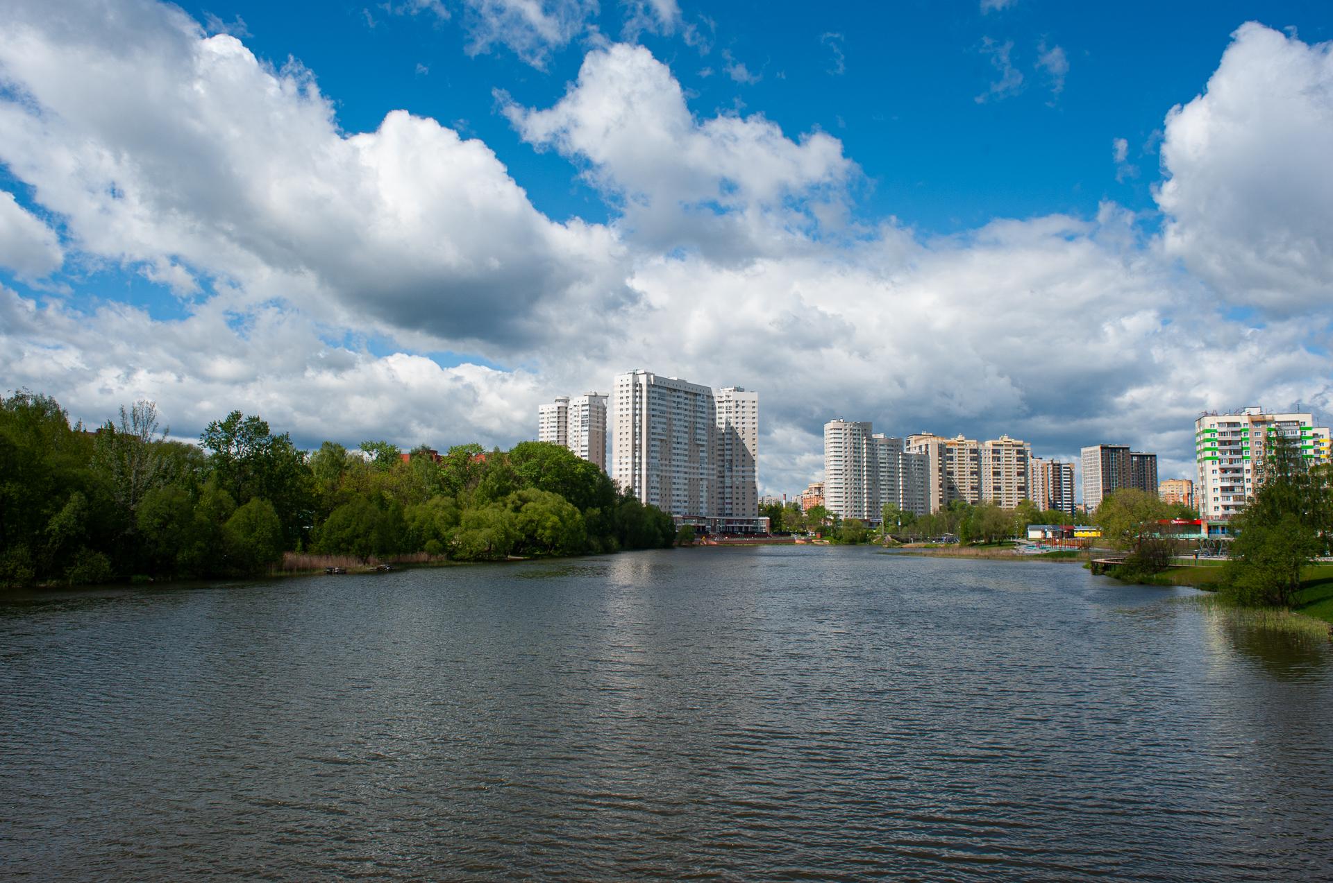 Пушкино, река Серебрянка, парк