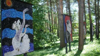 Мозаичные панно Надежды Ходасевич-Леже в Дубне.