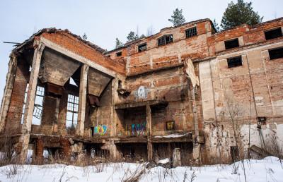 Заброшенный торфобрикетный завод в Мельчевке