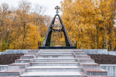 Лобня, городской парк, памятник детям - узникам фашизма