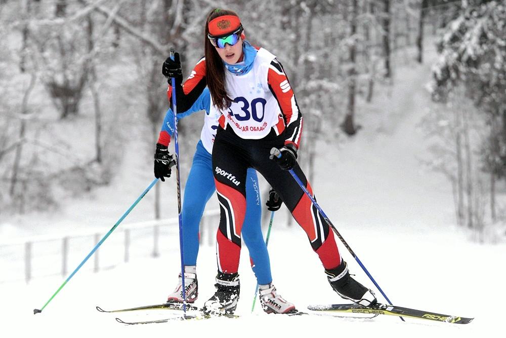 """Лыжные гонки на трассе в лыжном центре """"Истина"""""""