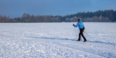 Ходить на лыжах, лыжня