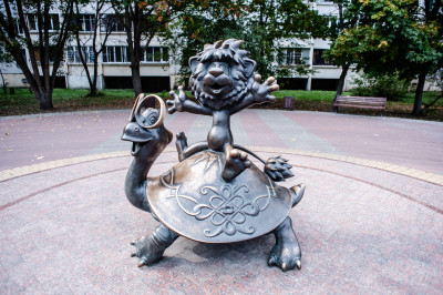 Раменское, скульптура Львенок и черепаха