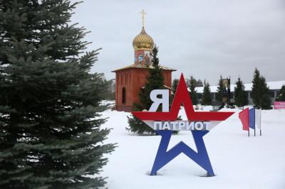 Партизанская деревня в парке «Патриот»