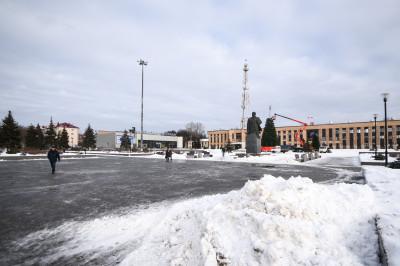Домодедово, памятник Ленину, площадь