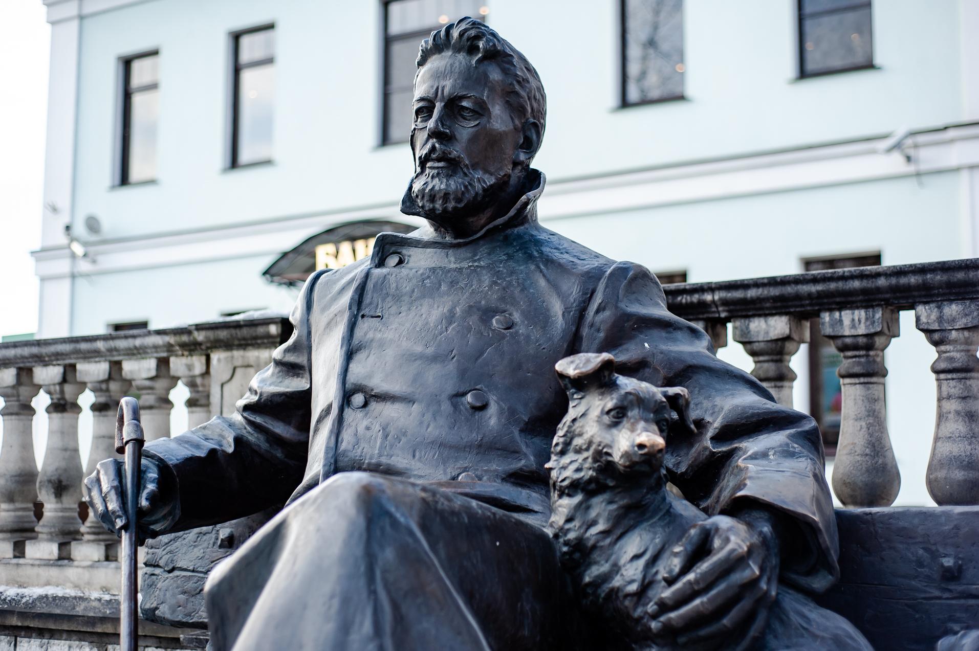 Звенигород, Сквер им.А.П.Чехова, Памятник А.П. Чехову