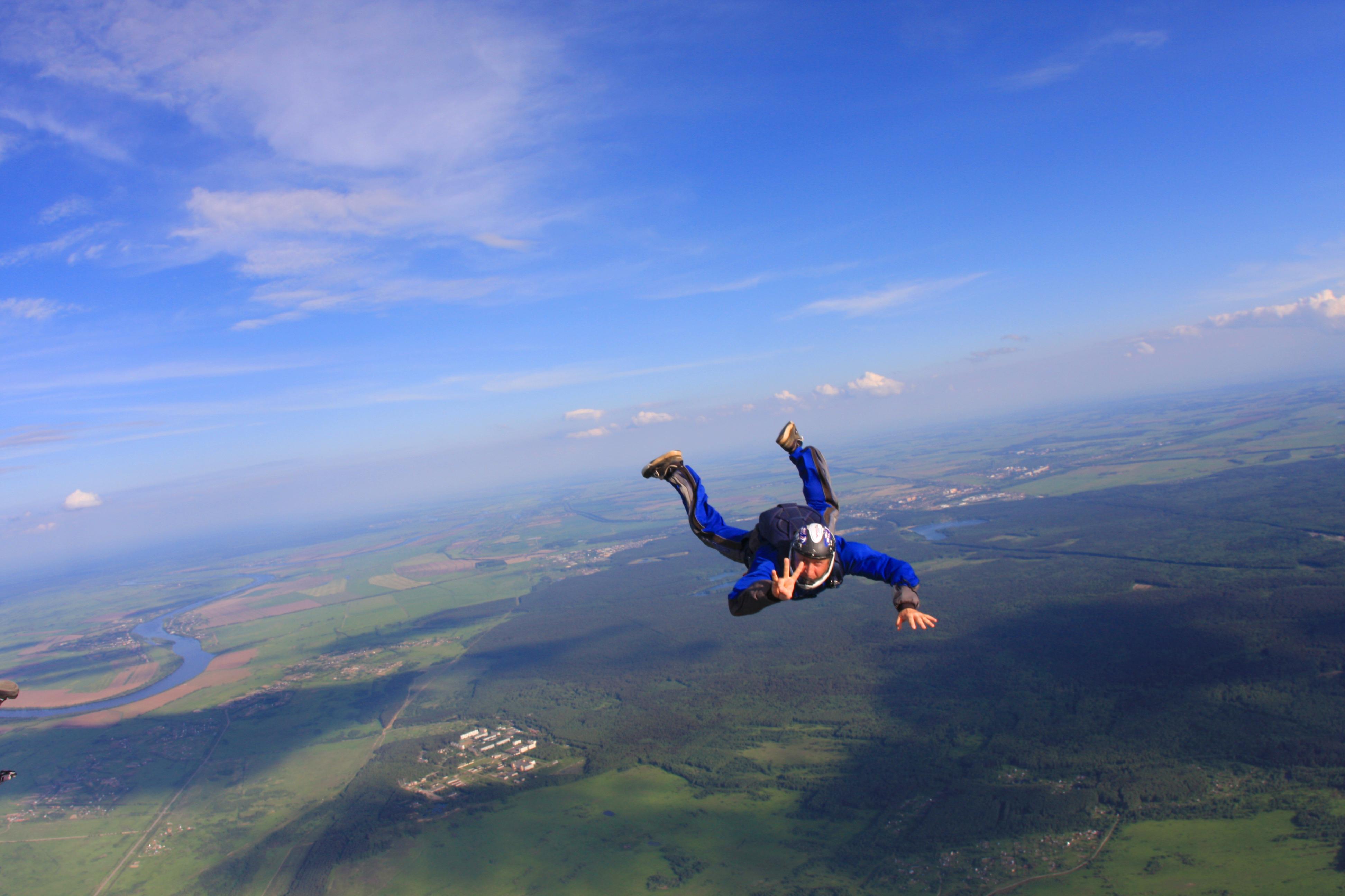 Прыжки с парашютом в «Аэрограде Коломна»