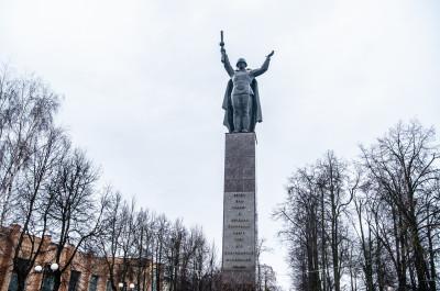 Можайск. Аллея славы и мемориал ВОВ