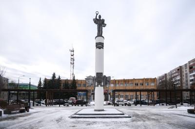 Домодедово, Монумент в честь 50-летия Домодедово