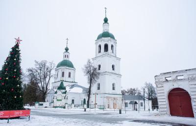 Зарайск, Церковь троицы Живоначальной, зима