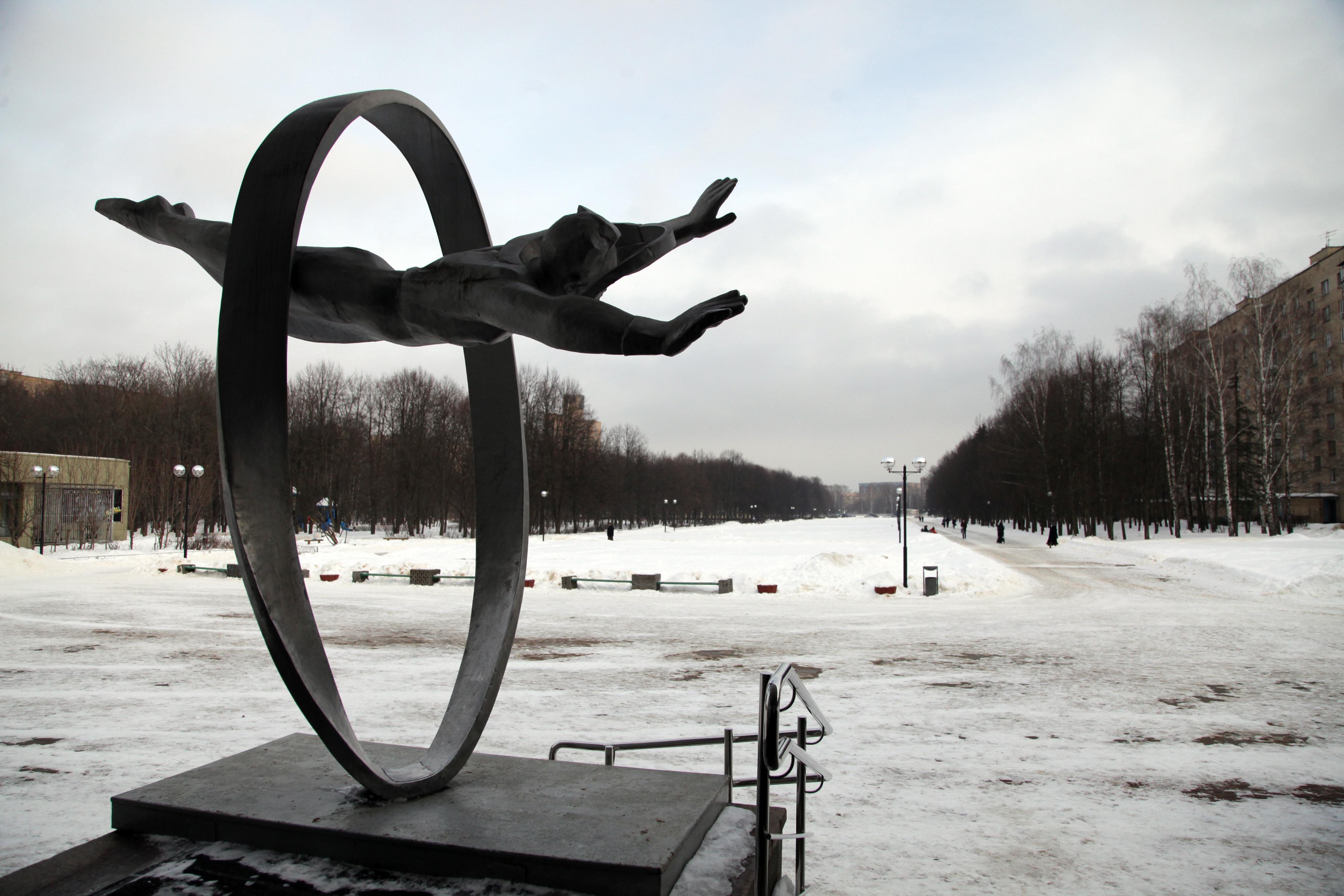 Памятник Юрию Гагарину в Звездном городке
