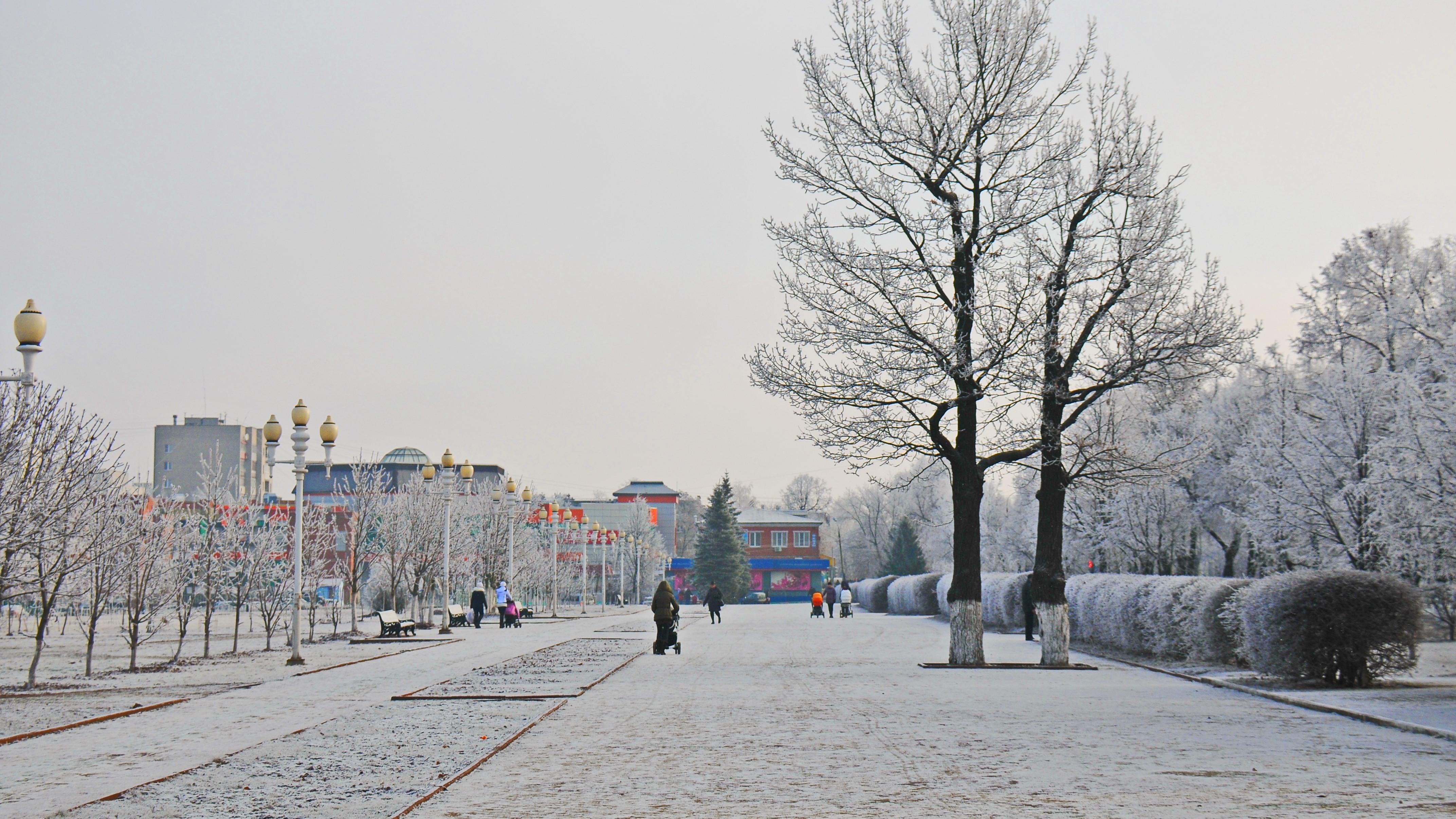 Вид города Ступино зимой