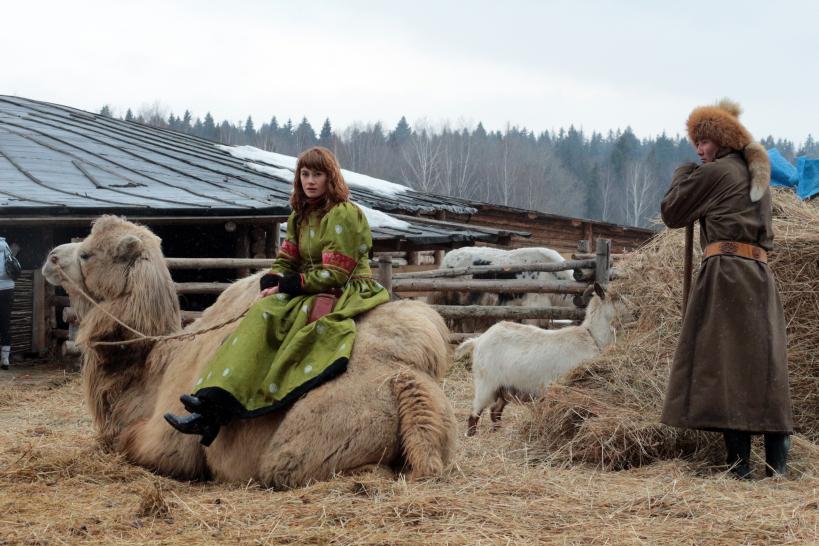Участники праздника «Стрелецкая гульба» в этнопарке «Кочевник».